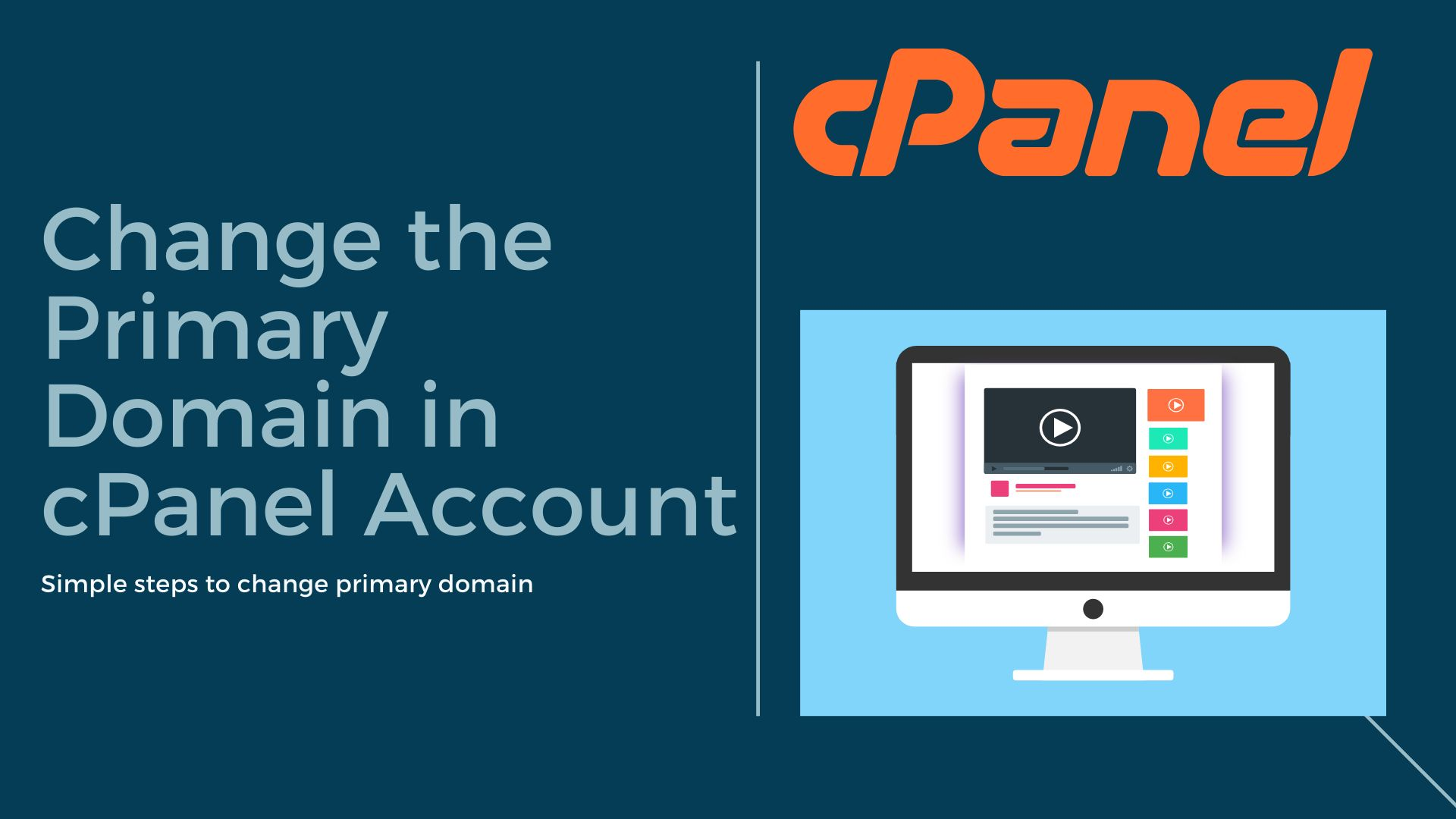 Change primary domain in cpanel